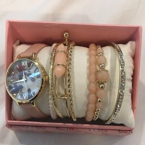Butterfly watch and matching bracelets